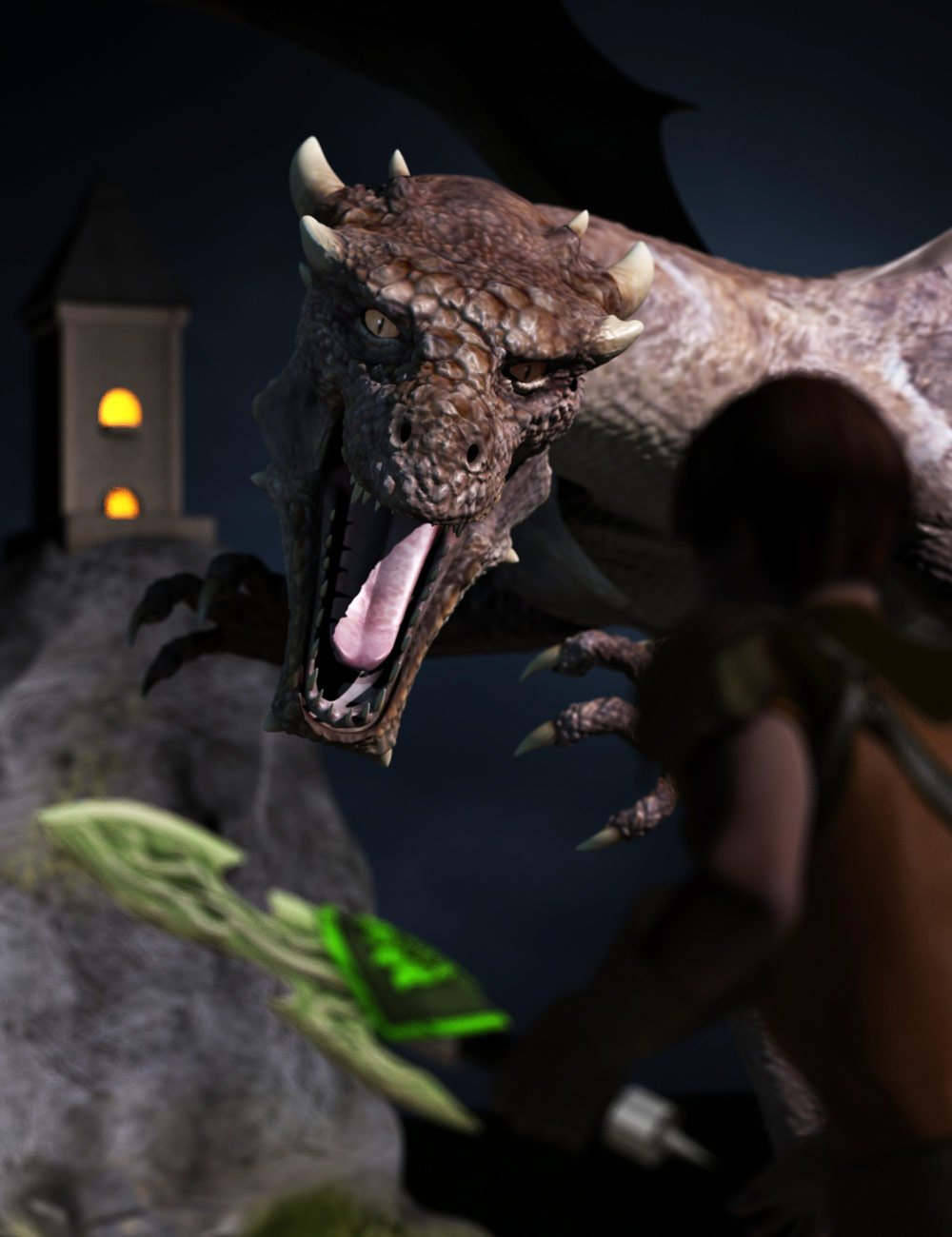 Slaying the Dragon Bundle by: , 3D Models by Daz 3D