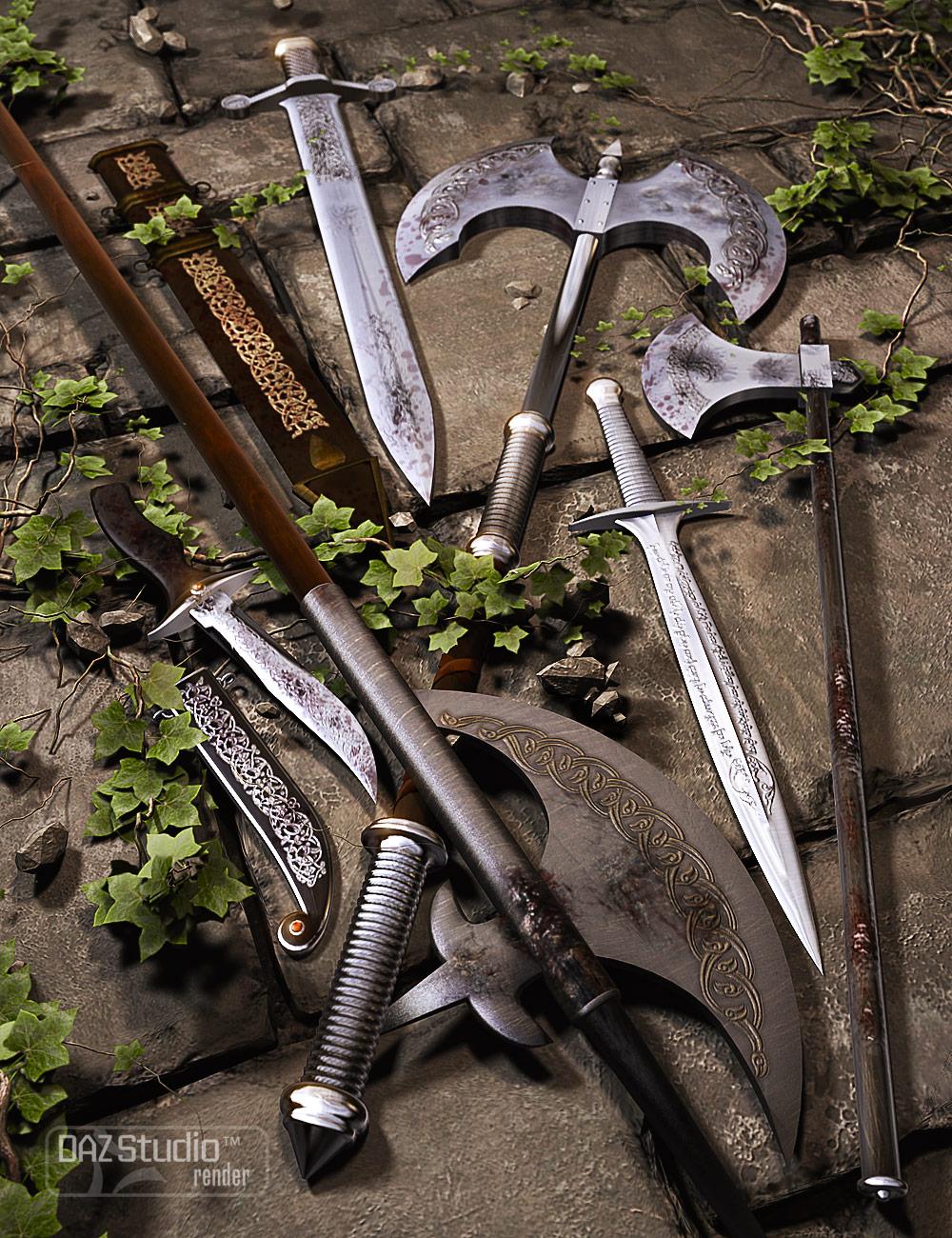 Weapons of War by: ArienKRAIG, 3D Models by Daz 3D