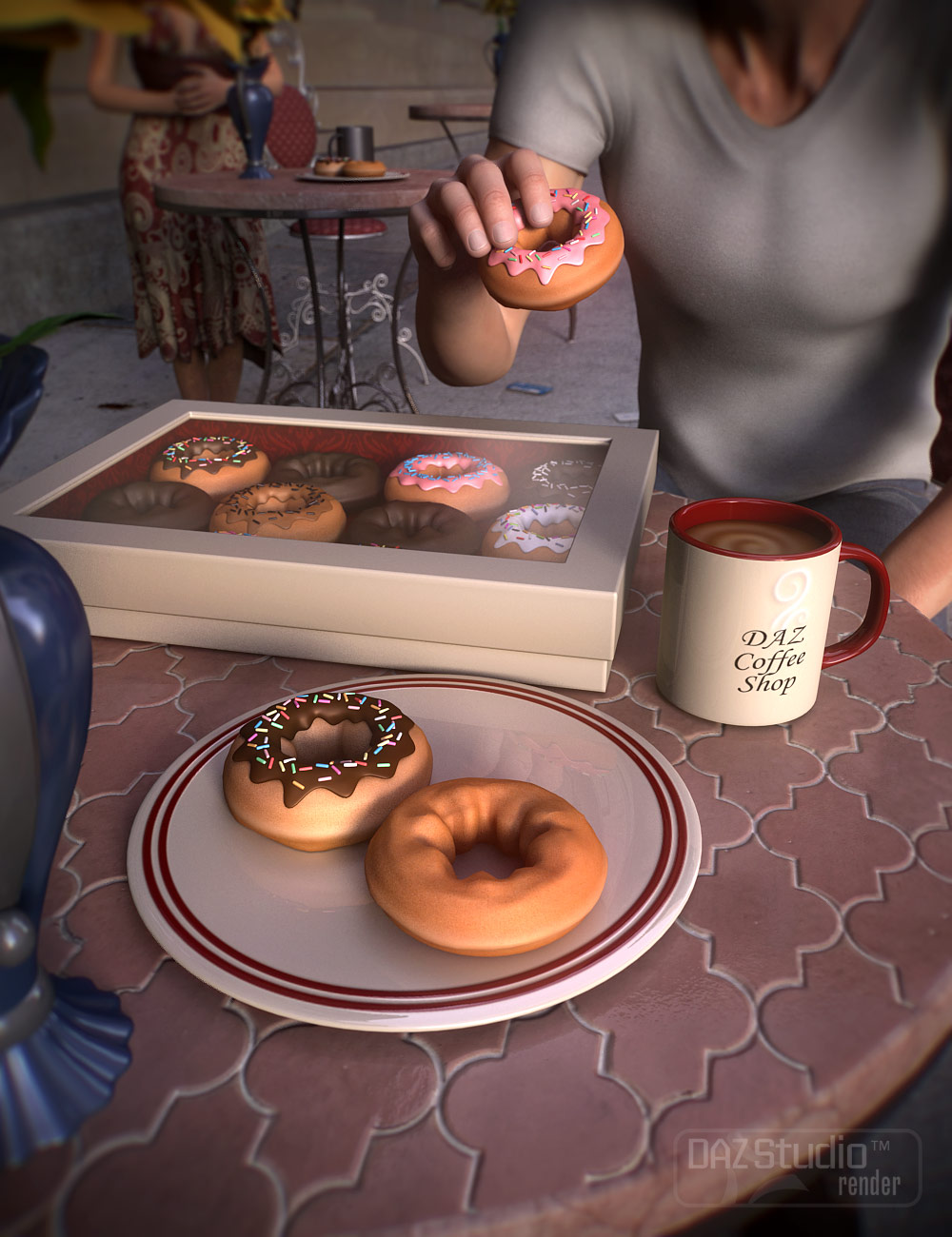 Coffee Shop by: ARTCollab, 3D Models by Daz 3D
