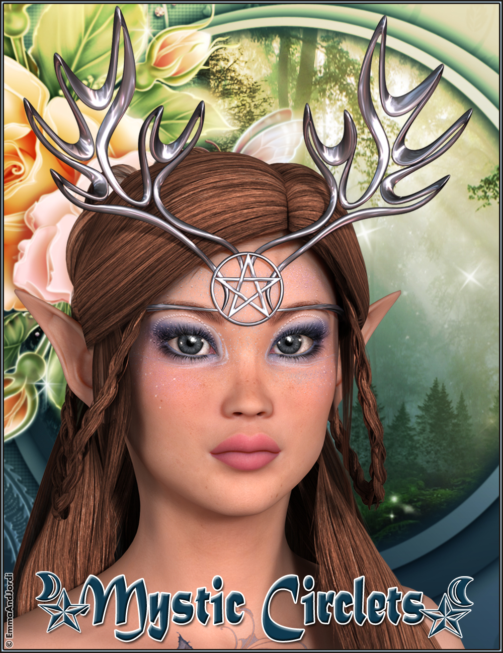 Mystic Circlets For Any Figure by: EmmaAndJordi, 3D Models by Daz 3D