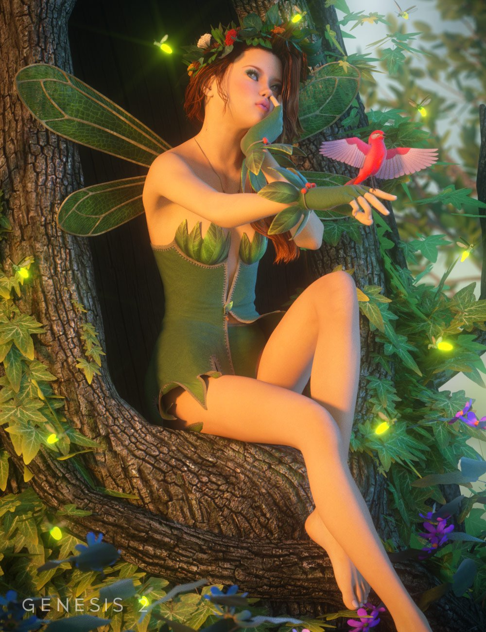 Spriteling for Giselle 6 by: MadaSarsa, 3D Models by Daz 3D