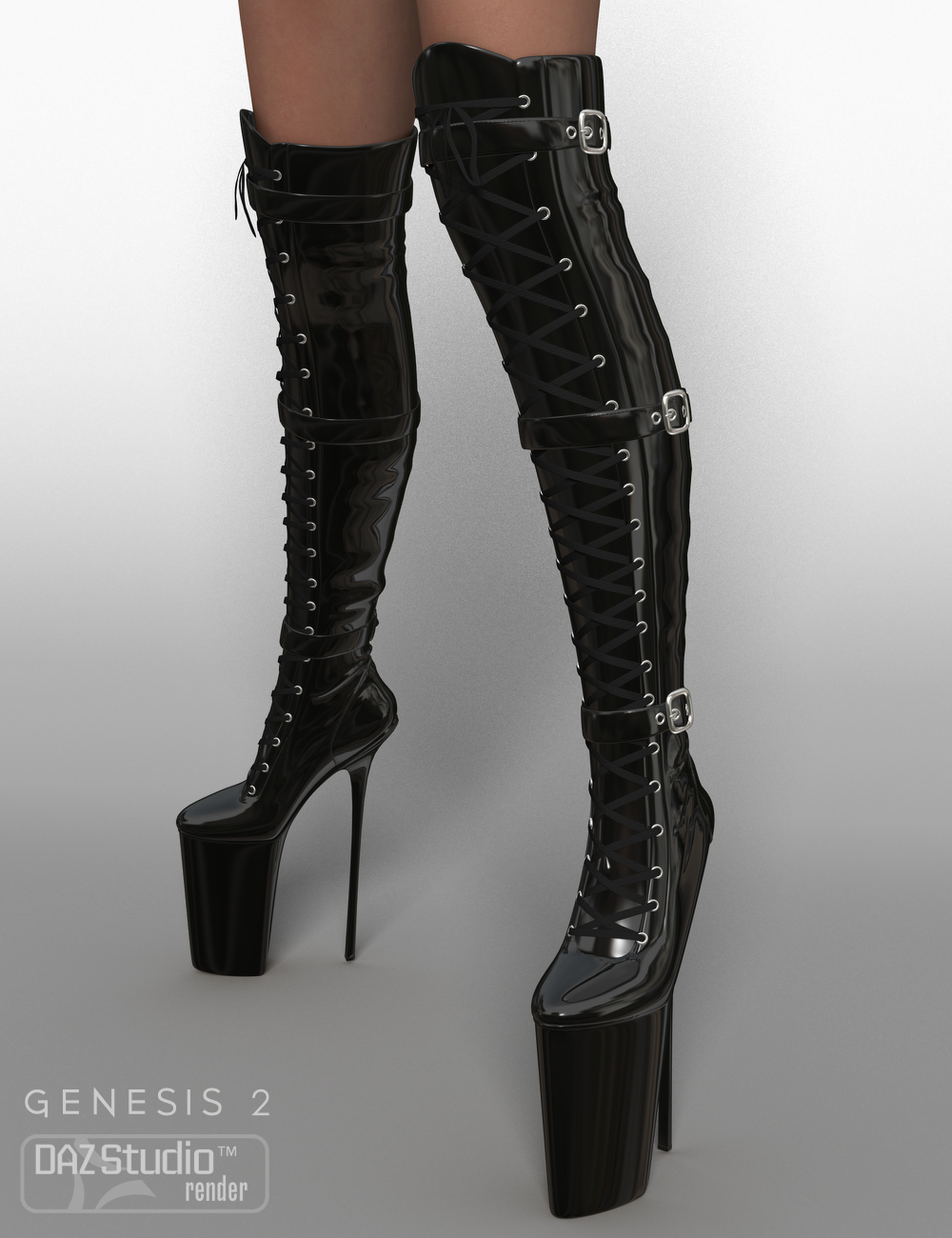 Nixtreme Boots 4 for Genesis 2 Female(s) by: Nikisatez, 3D Models by Daz 3D