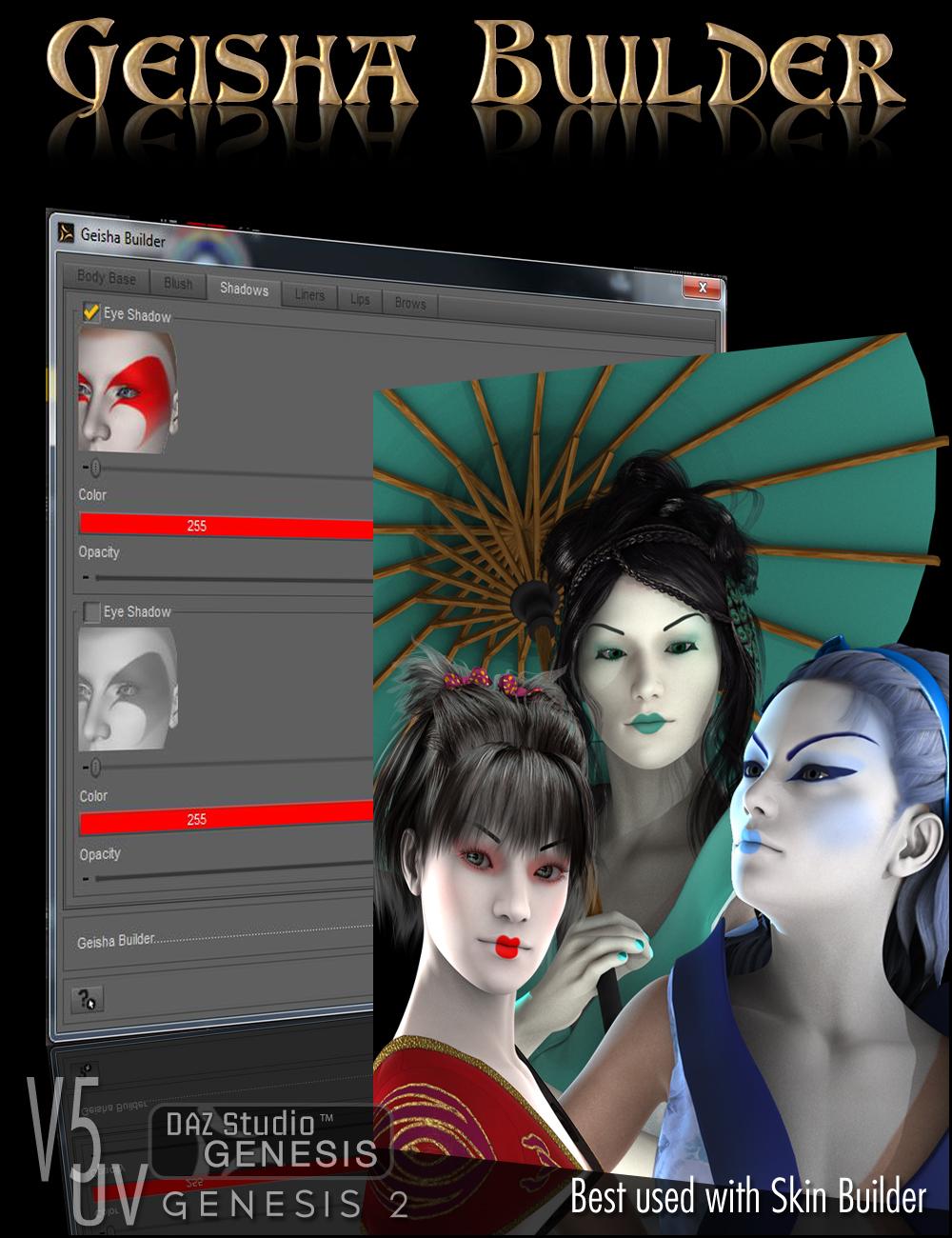 Geisha Builder by: DraagonStorm, 3D Models by Daz 3D