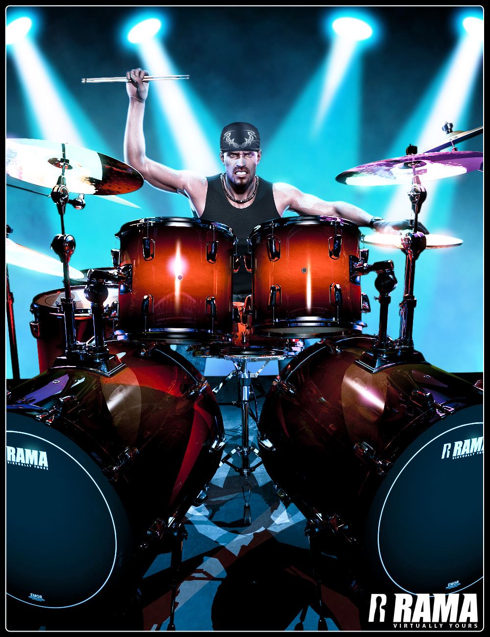 Rama Drums by: Ravnheart, 3D Models by Daz 3D