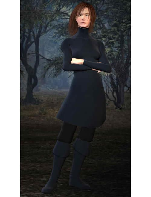 Stephanie Petite Tunic by: Lourdes, 3D Models by Daz 3D