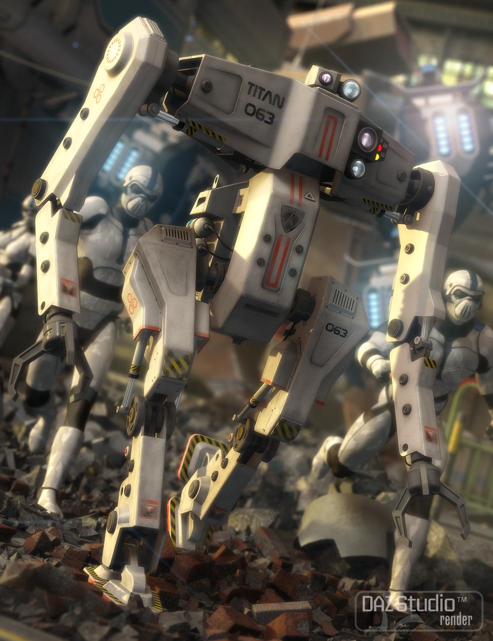 Robot Titan by: petipet, 3D Models by Daz 3D