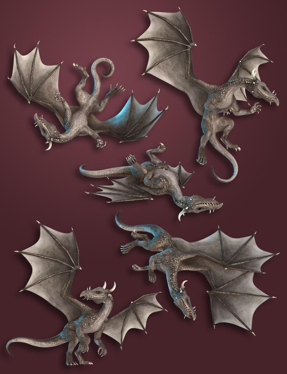 Capsces Poses DAZ Dragon 3 by: Capsces Digital Ink, 3D Models by Daz 3D