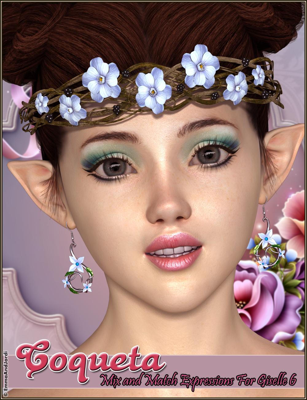 Coqueta Mix And Match Expressions For Giselle 6 by: EmmaAndJordi, 3D Models by Daz 3D