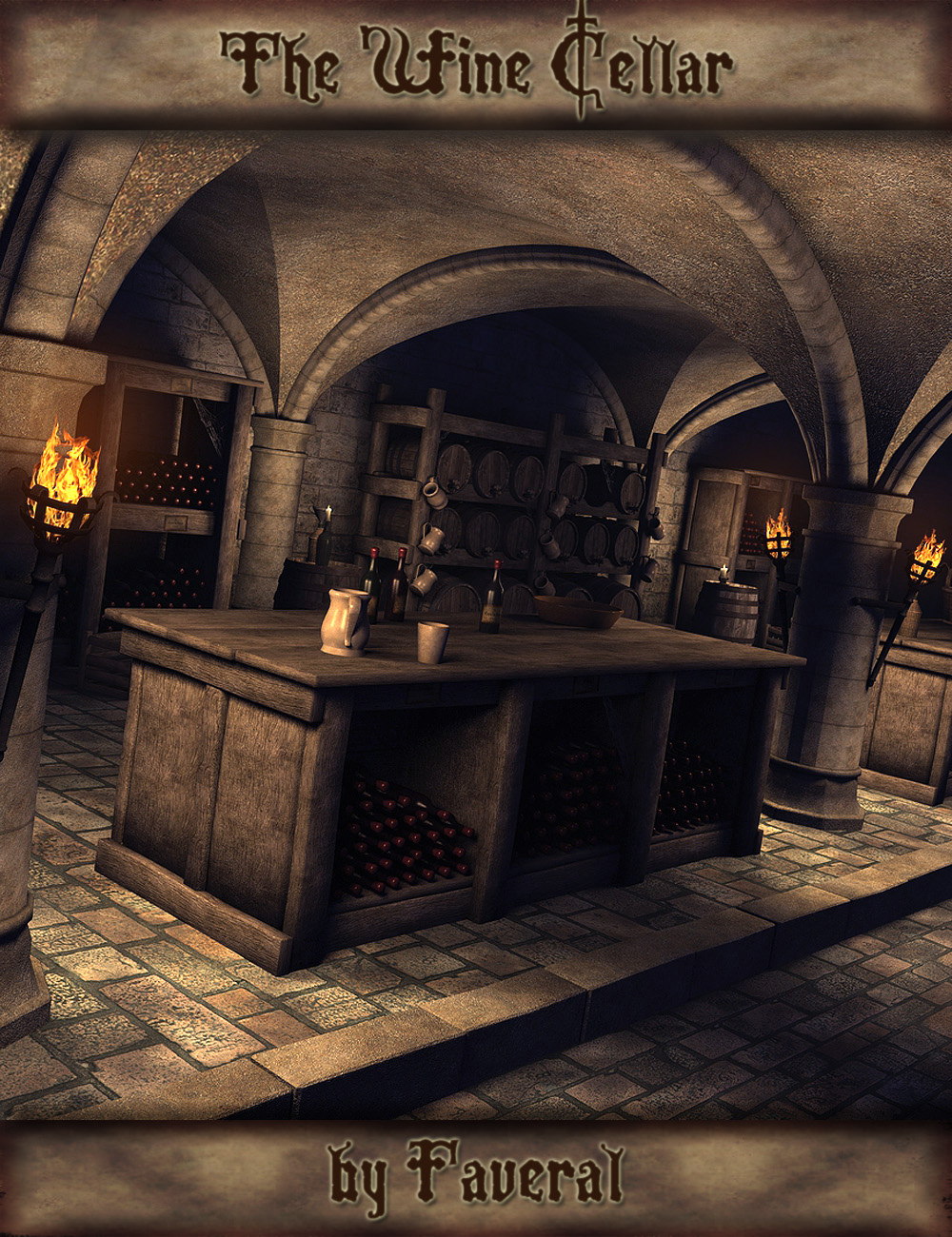 Faveral's Wine Cellar by: Faveral, 3D Models by Daz 3D