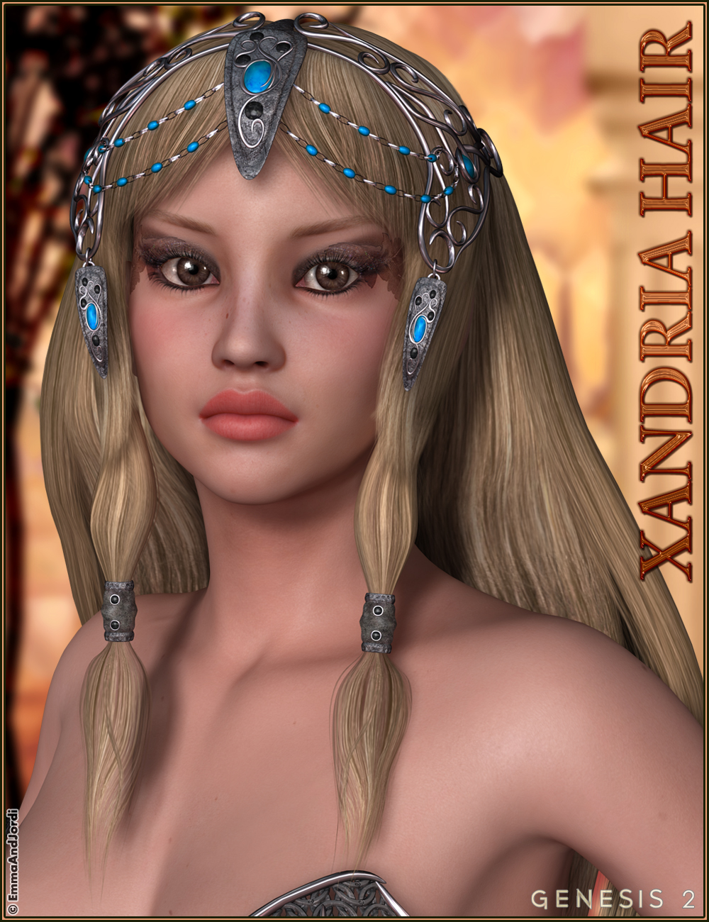 Xandria Hair by: EmmaAndJordi, 3D Models by Daz 3D