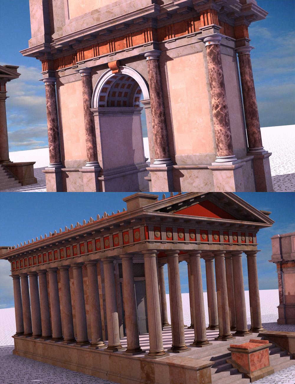 Roman Doric Forum Starter Bundle by: KRAIG, 3D Models by Daz 3D
