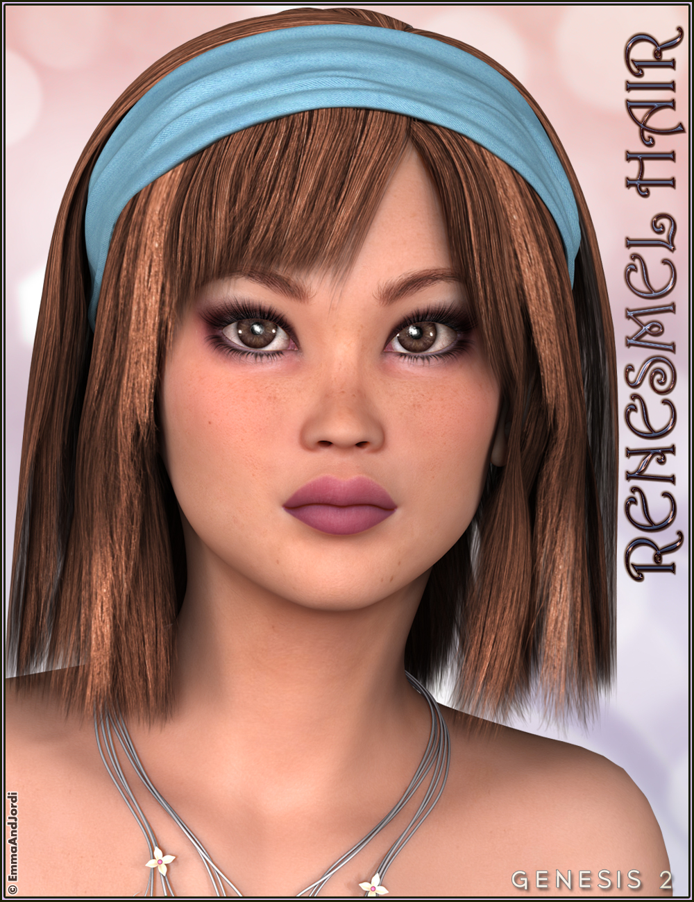 Renesmel Hair by: EmmaAndJordi, 3D Models by Daz 3D