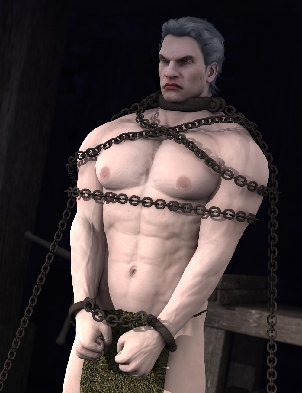 Shackled! For Genesis 2 by: Sickleyield, 3D Models by Daz 3D