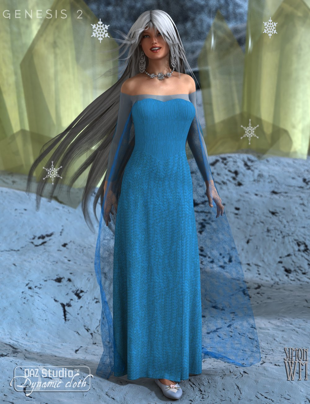 Fairy Queen: Dynamic Royal Dress by: SimonWMOptiTex, 3D Models by Daz 3D