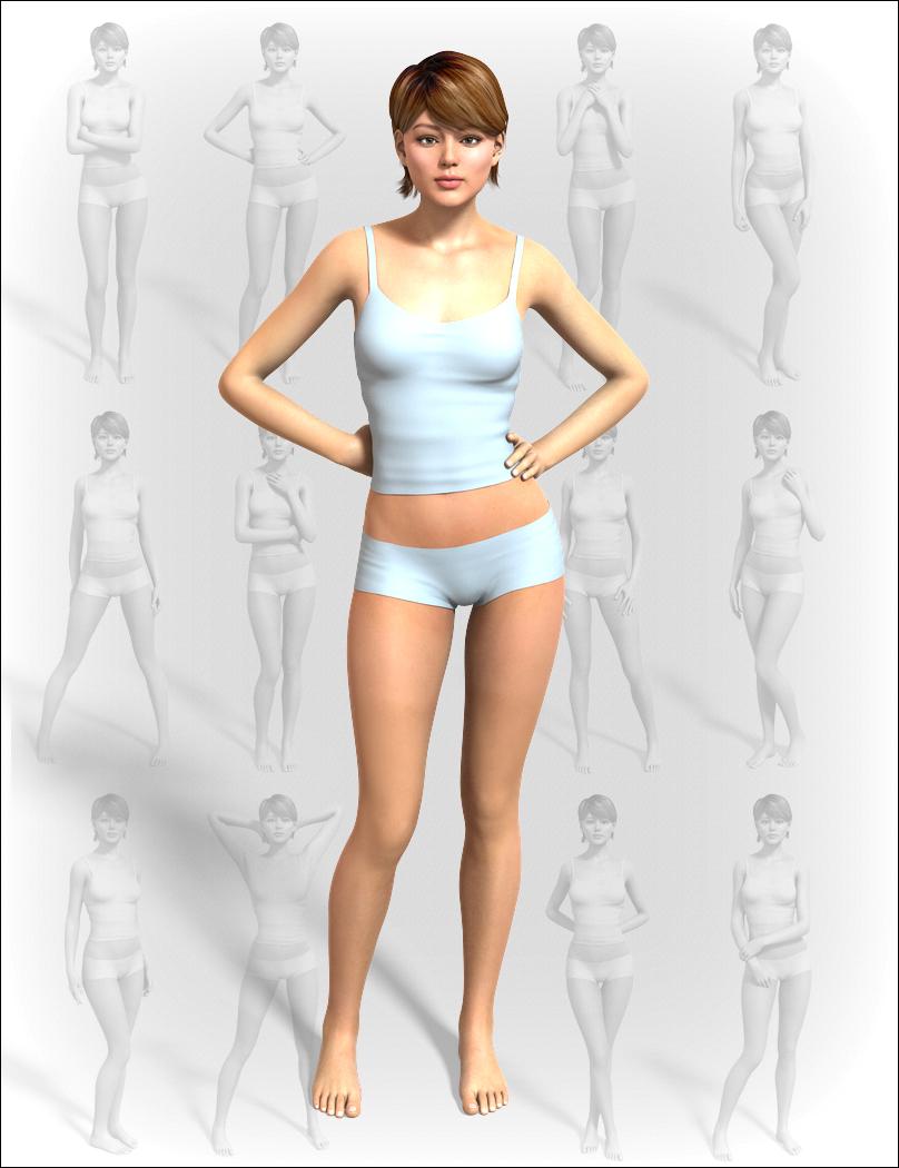 Premium Portrait Poses II by: MindVision G.D.S., 3D Models by Daz 3D