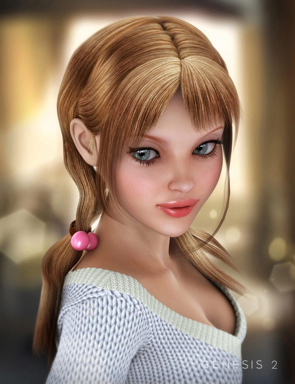 Sora Hair by: EmmaAndJordi, 3D Models by Daz 3D
