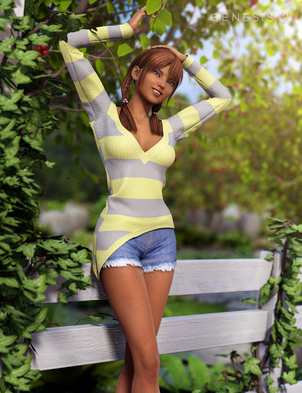 Summer Girl For Genesis 2 Female(s) by: Cute3D, 3D Models by Daz 3D