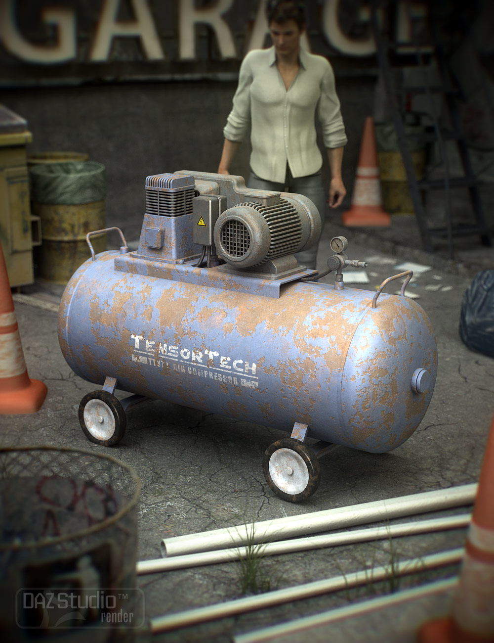 Industrial Compressor by: Nightshift3D, 3D Models by Daz 3D