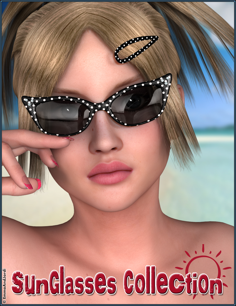Sunglasses Collection For Any Figure by: EmmaAndJordi, 3D Models by Daz 3D