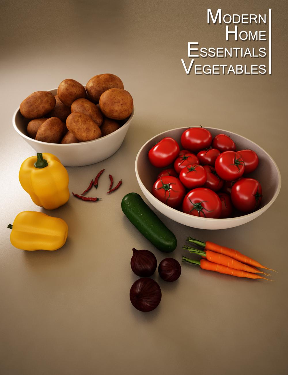 MHE: Vegetables by: Lantios, 3D Models by Daz 3D
