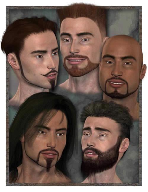 Michael 3 Millennium Beard by: , 3D Models by Daz 3D