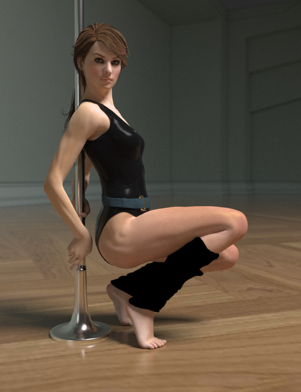Fitness Pole Dance Poses and Prop for Genesis 2 Female(s) by: Cake One, 3D Models by Daz 3D