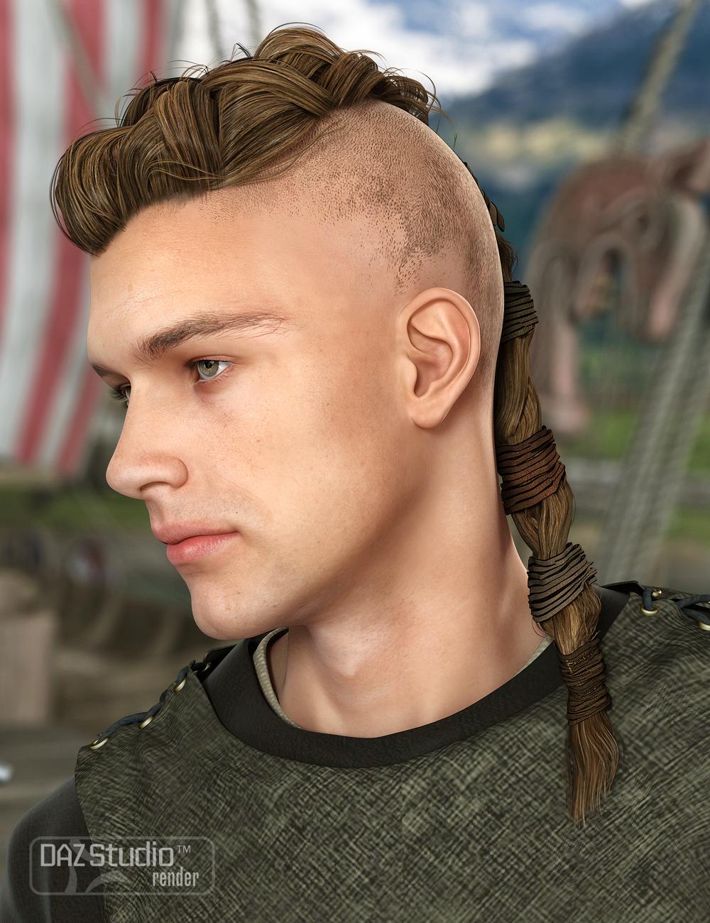 Viking Male Hair for Genesis and Genesis 2 Male(s) by: goldtassel, 3D Models by Daz 3D