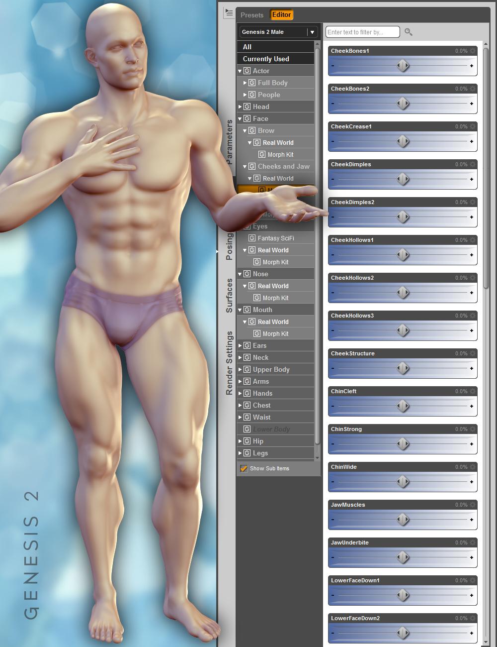 Gianni 6 Face Morph Resource Kit by: ThorneHandspan Studios, 3D Models by Daz 3D