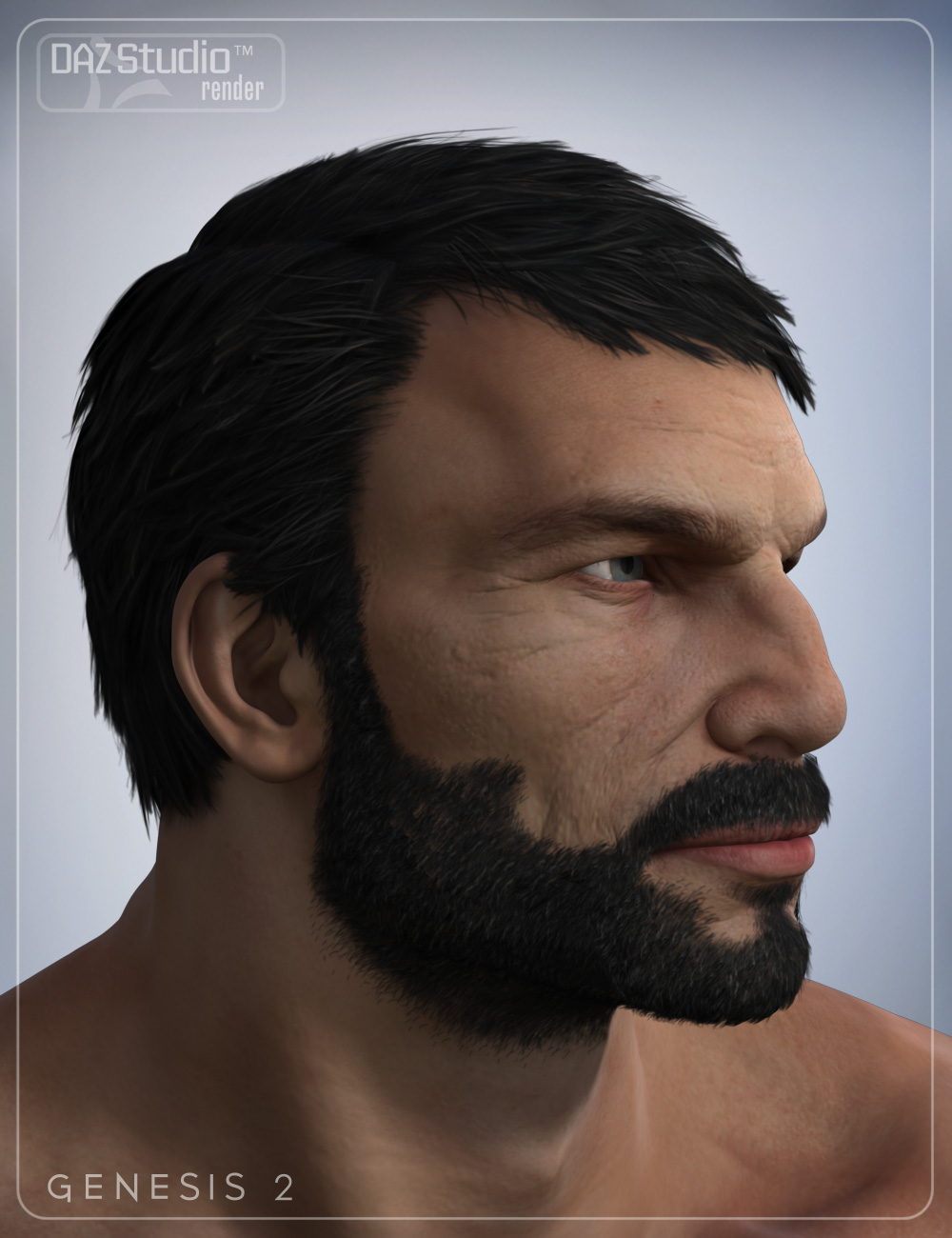 Boris Hair for Genesis 2 Male(s) by: Daz Originalssmay, 3D Models by Daz 3D