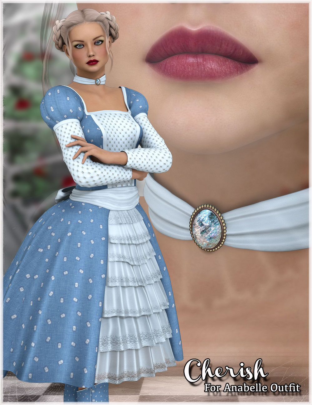 Cherish For Anabelle Outfit by: Belladzines, 3D Models by Daz 3D