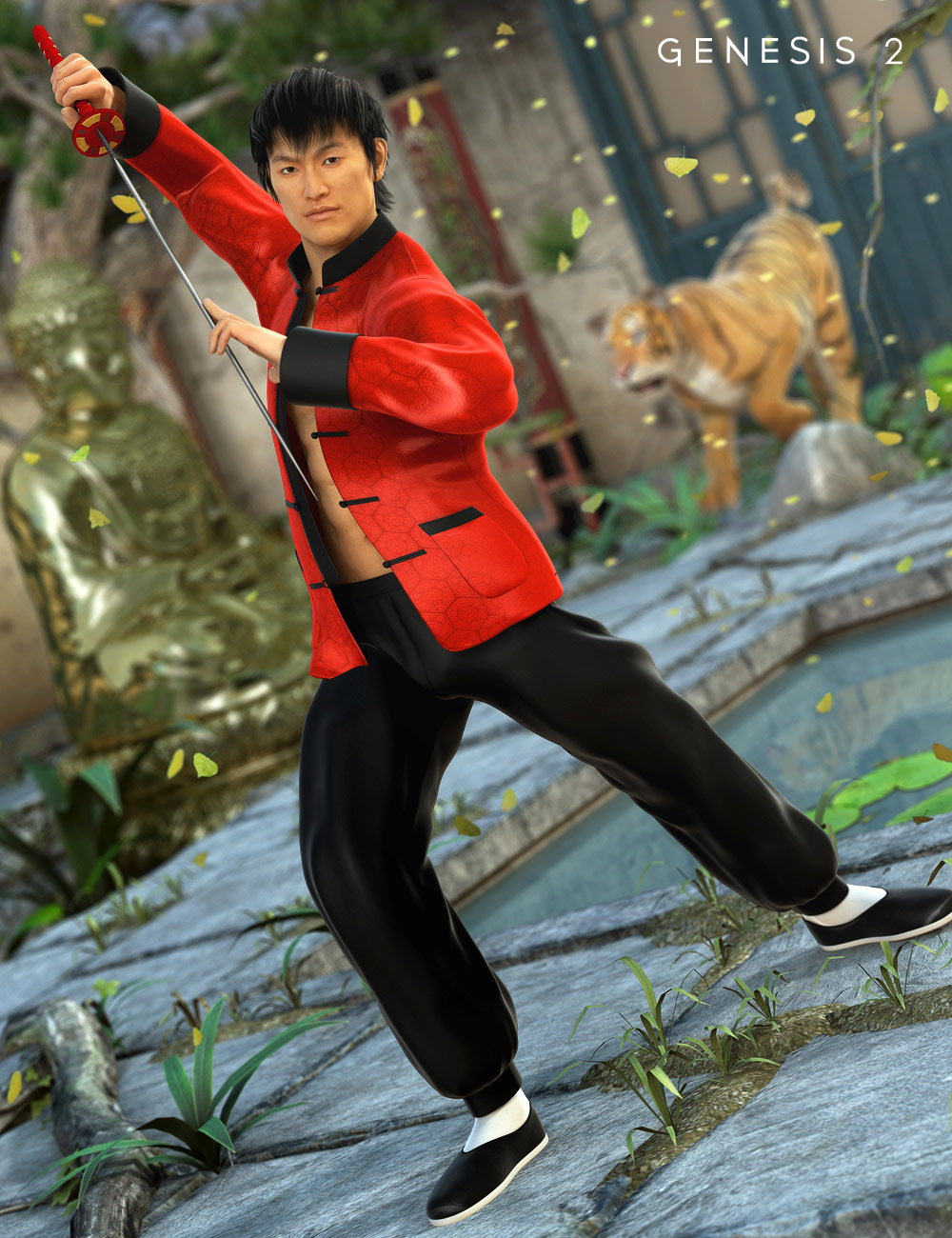 Kung Fu HD for Genesis 2 Male(s) by: Fisty & Darc, 3D Models by Daz 3D
