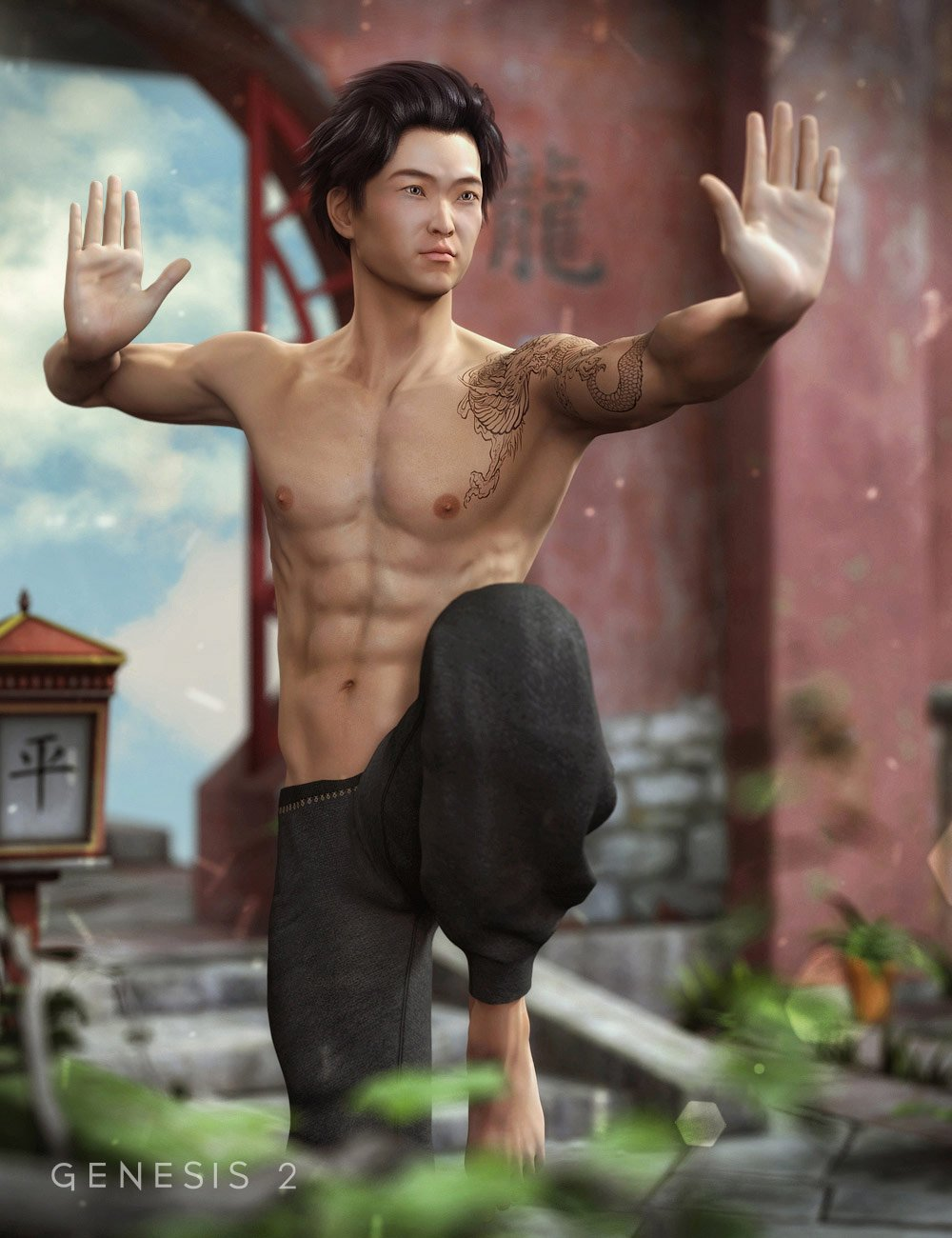 Yasuo for Lee 6 by: CountessJessaii, 3D Models by Daz 3D