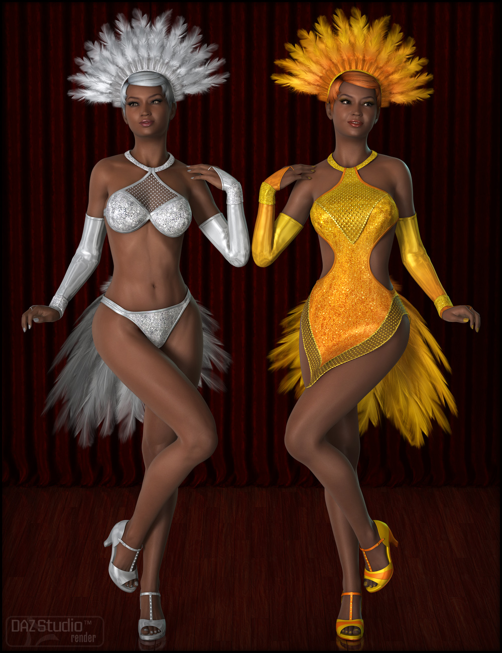 Serena Show Girl for Genesis 2 Female(s) by: Fisty & Darc, 3D Models by Daz 3D