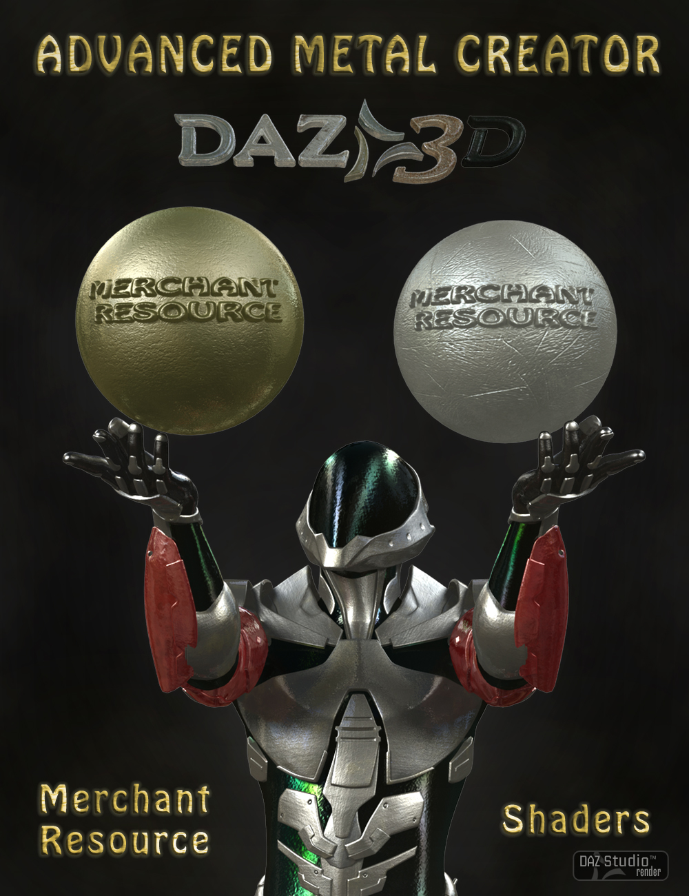 Advanced Metal Creator by: V3Digitimes, 3D Models by Daz 3D