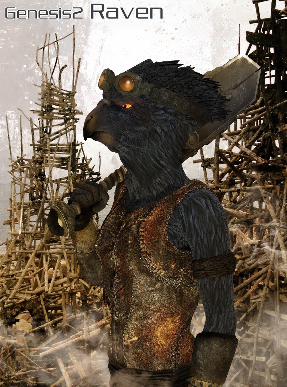 Genesis 2 Raven by: The AntFarm, 3D Models by Daz 3D