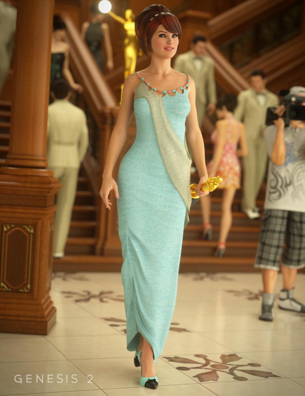 Corvidae Dress for Genesis 2 Female(s) by: MadaSarsa, 3D Models by Daz 3D