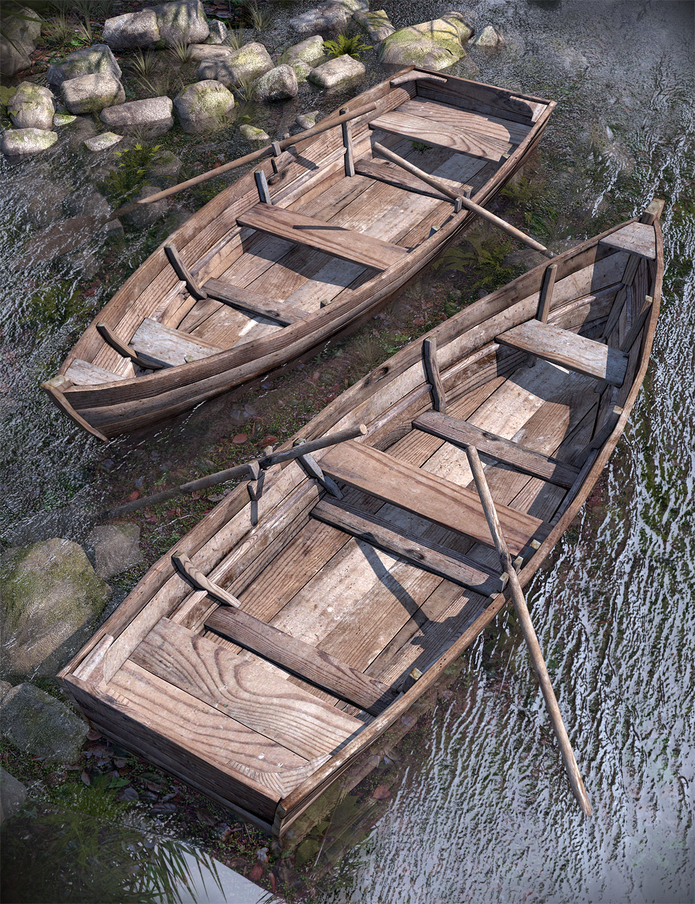 Old Rowboat by: Orestes Graphics, 3D Models by Daz 3D