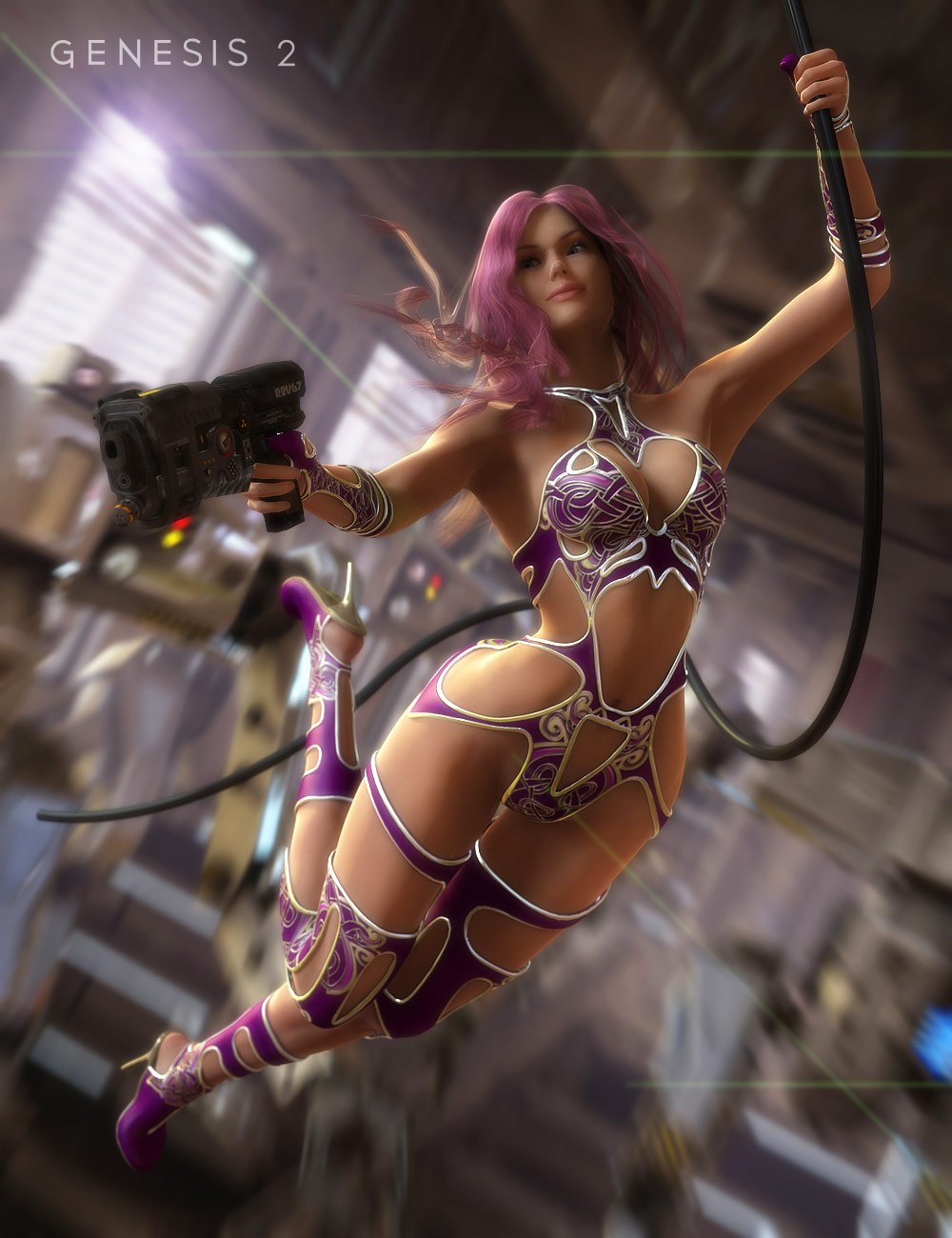 Leris Outfit for Genesis 2 Female(s) by: Nikisatez, 3D Models by Daz 3D