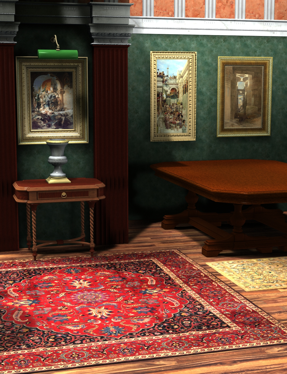 Vaulted Hall Accessories by: KRAIG, 3D Models by Daz 3D