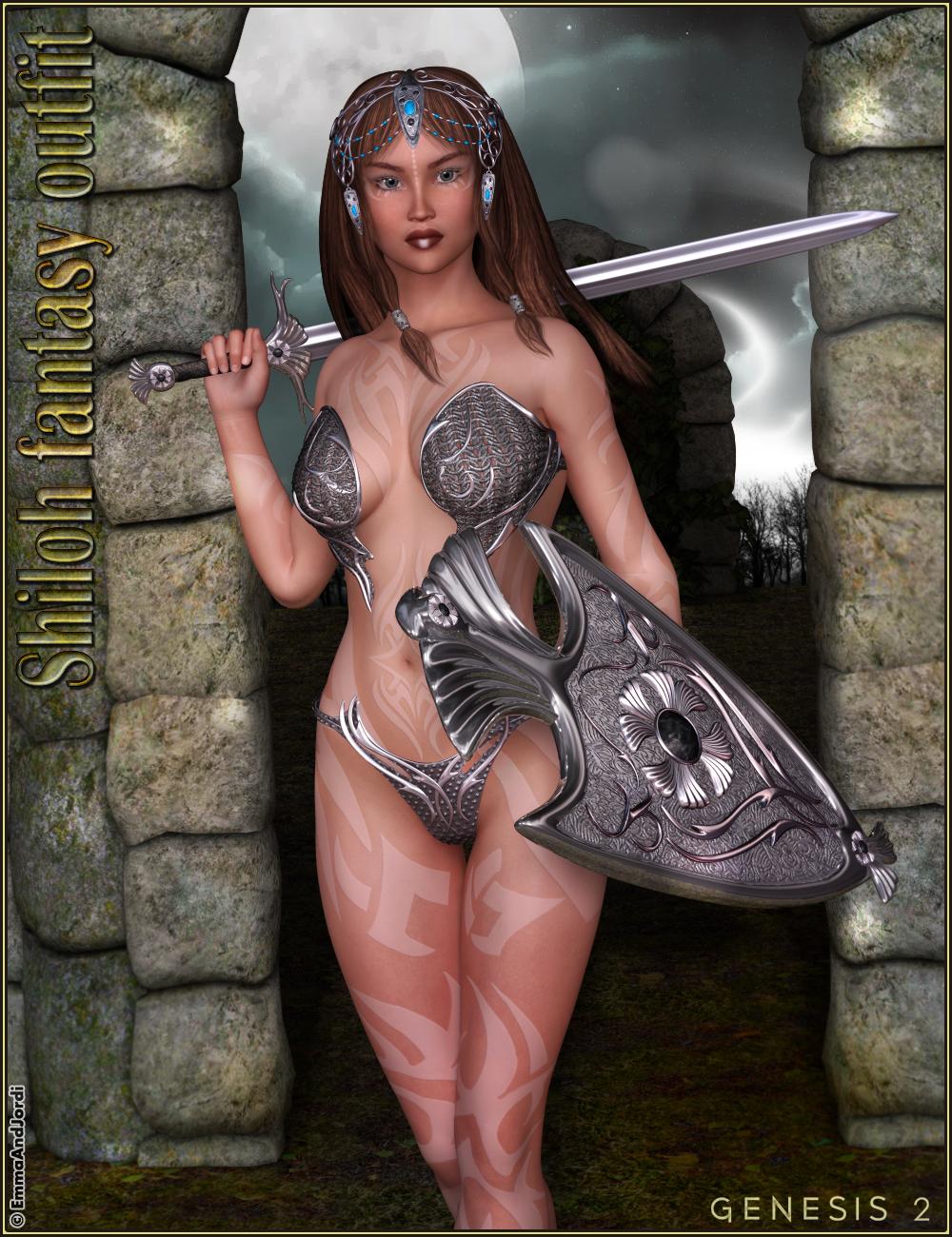 Shiloh Fantasy Outfit by: EmmaAndJordi, 3D Models by Daz 3D