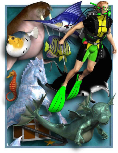 Sea Life Pack 2 by: , 3D Models by Daz 3D