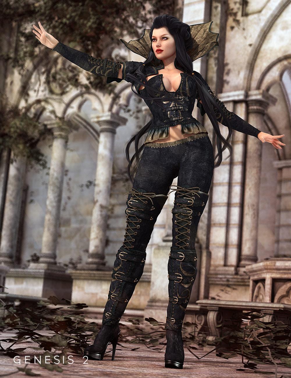 Dark Princess for Genesis 2 Female(s) by: Barbara BrundonSarsa, 3D Models by Daz 3D