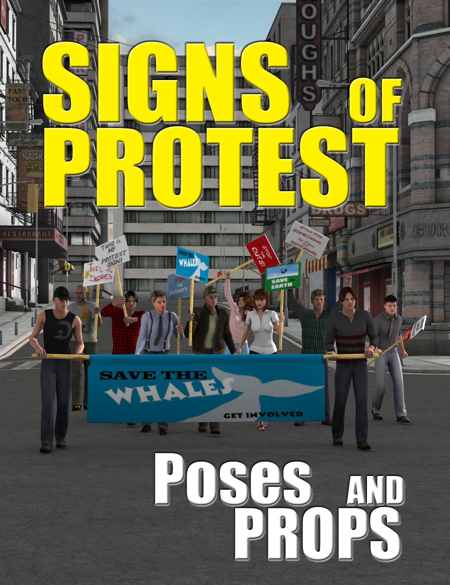 Signs of Protest by: FirstBastion, 3D Models by Daz 3D