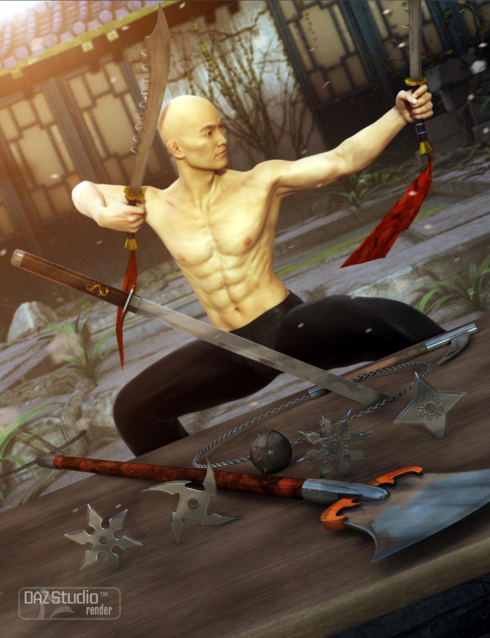 Martial Arts Weapons 2 by: Valandar, 3D Models by Daz 3D