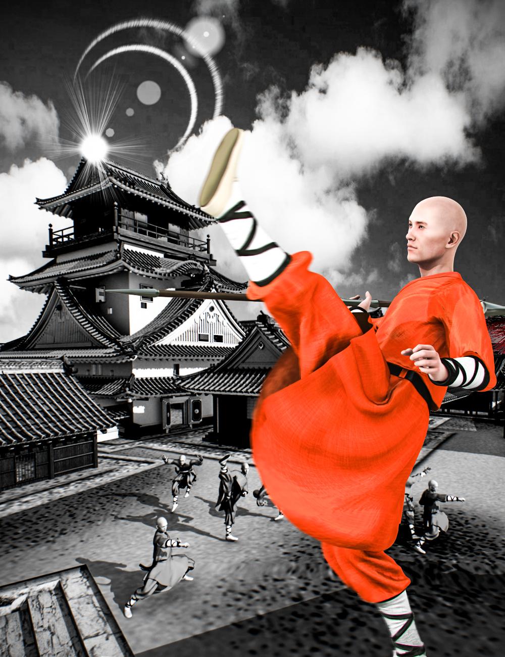 Mec4D Shaolin Monk Uniform for Genesis 2 Male(s) by: Mec4D, 3D Models by Daz 3D