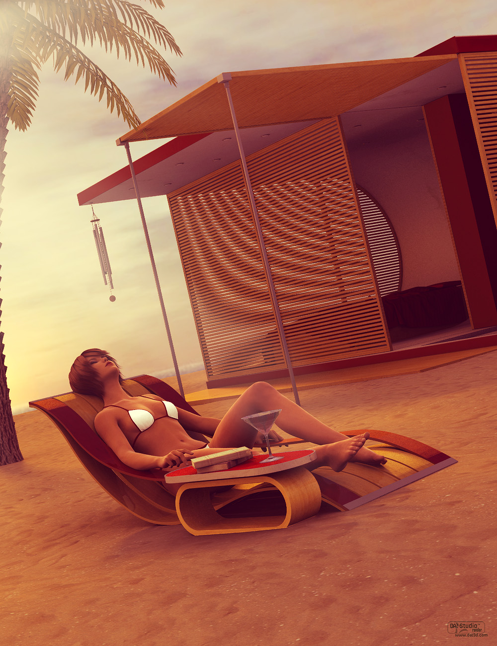 Beach Pod by: ForbiddenWhispersFWDesign, 3D Models by Daz 3D