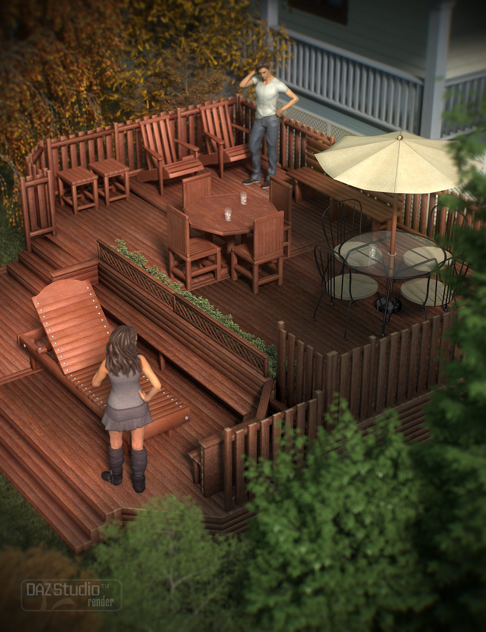Deck Accessories by: ARTCollab, 3D Models by Daz 3D