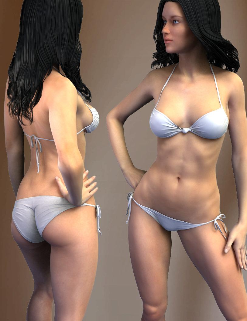 Hongyu's Bikini 2 for V6 by: hongyu, 3D Models by Daz 3D