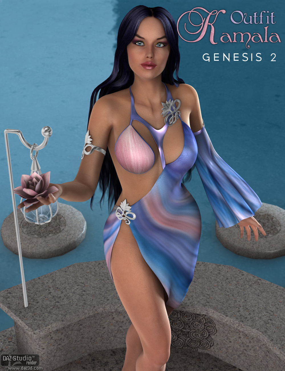Kamala Outfit for Genesis 2 Female(s) by: Nikisatez, 3D Models by Daz 3D