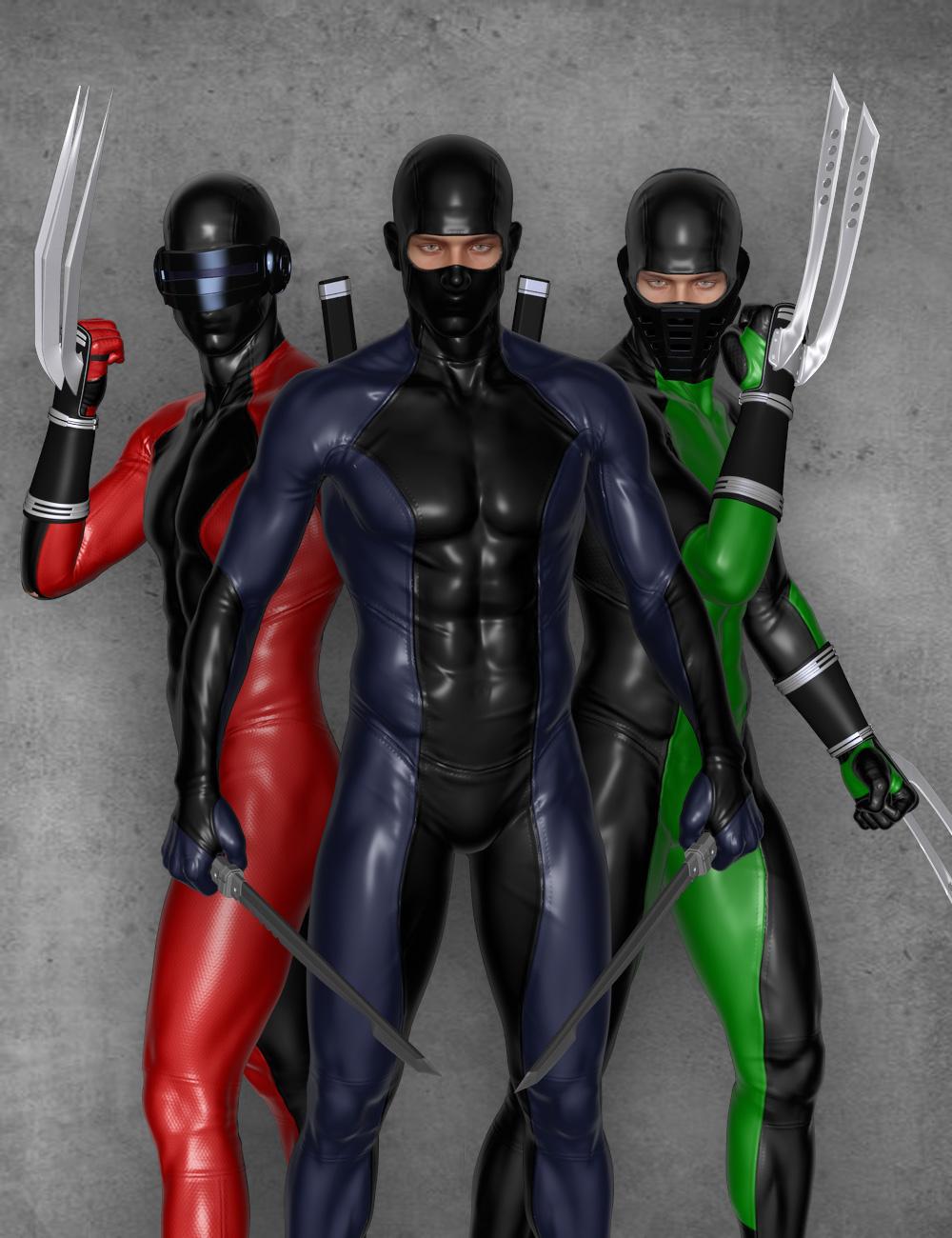 Modern Ninja Blades for Genesis 2 Male(s) by: Velemudr, 3D Models by Daz 3D